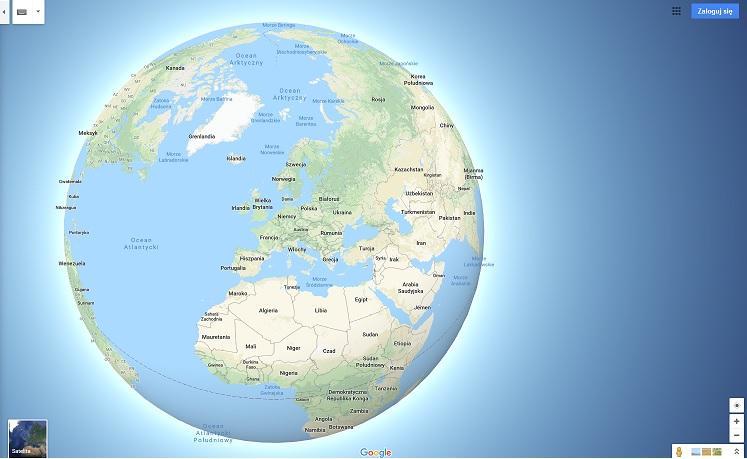 Mapy Google Jako Globus